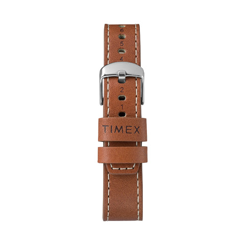 Timex x Red Wing Waterbury Leather Strap - Brown/Silver