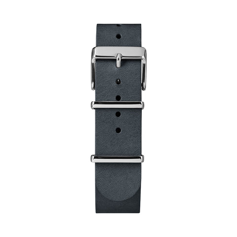 Weekender Fairfield Black Genuine Leather Slip-Thru Strap Watch