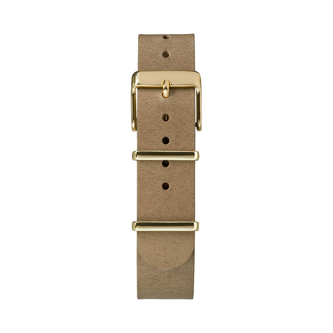 Fairfield 37mm Gold-tone Case Cream Dial Taupe Leather Strap