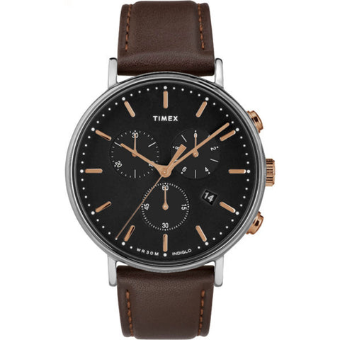 Fairfield Chronograph 41mm - Silver/Brown/Black/Rosegold