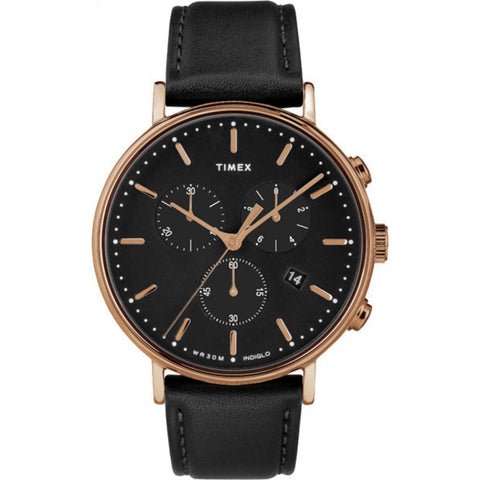 Fairfield Chronograph 41mm - Rosegold/Black