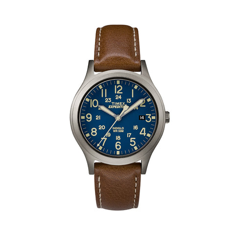 Expedition Scout Midsize 36mm - Titanium/Brown/Blue