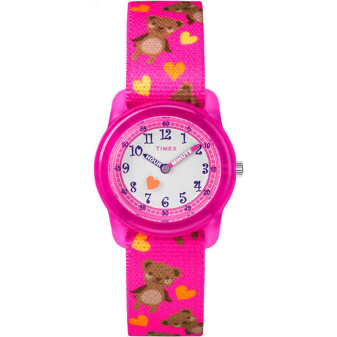 Kids Analog 28mm - Pink Strap Bears