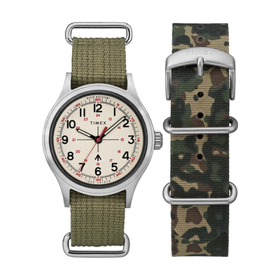 Todd Synder Military 40mm - Silver/Green/White