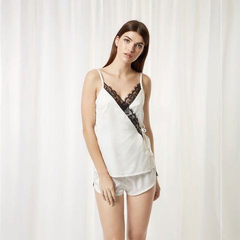 Ensemble Short et Camisole Angelica Ivoire