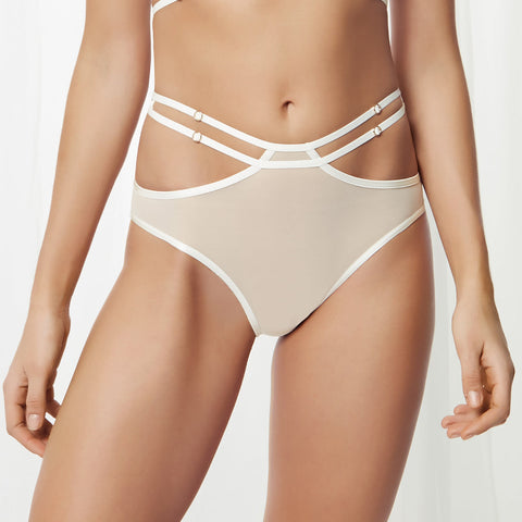 Rowan High Waist Thong Ivory