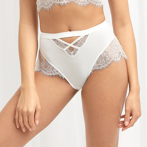 Culotte Taille-Haute Nyane Blanc