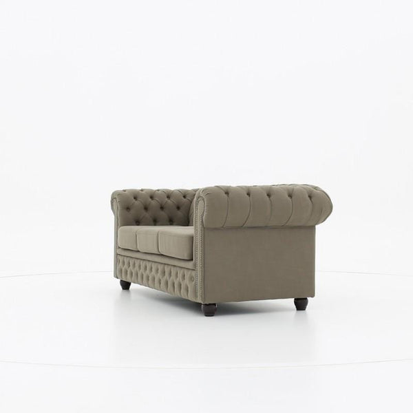 Chesterfield Fabric Pitch Beige 3-seater sofa