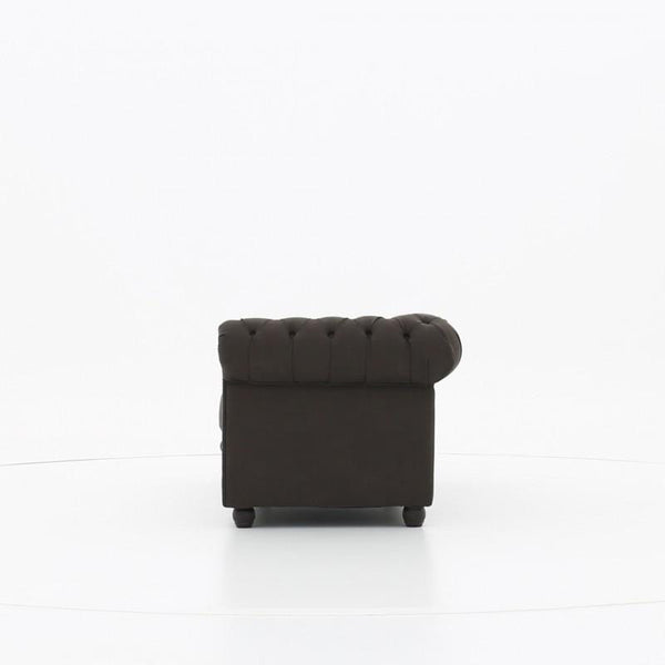 Chesterfield Fabric Pitch Brown 3-seater sofa