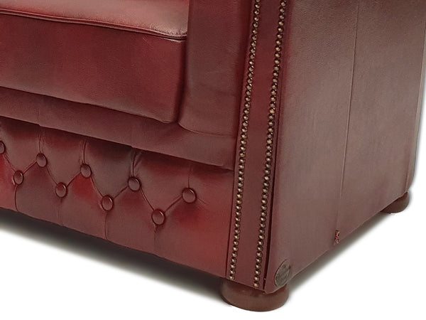 Chesterfield Sofa First Class 3-seater Cloudy Red