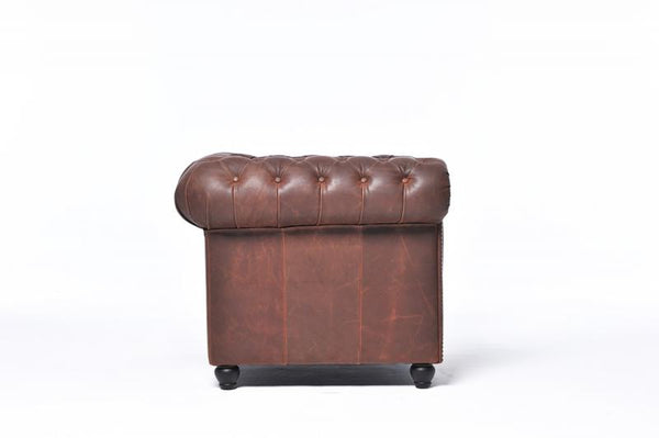 Chesterfield Vintage Armchair Brown