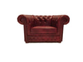 Chesterfield Armchair First Class Cloudy Red