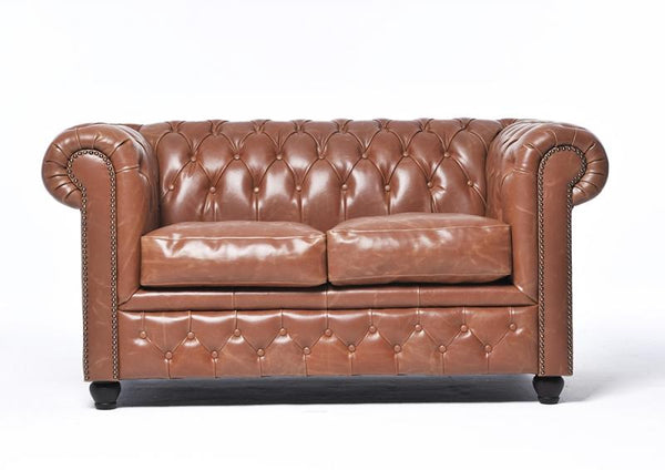 Chesterfield Vintage 2-seat Sofa Mocca