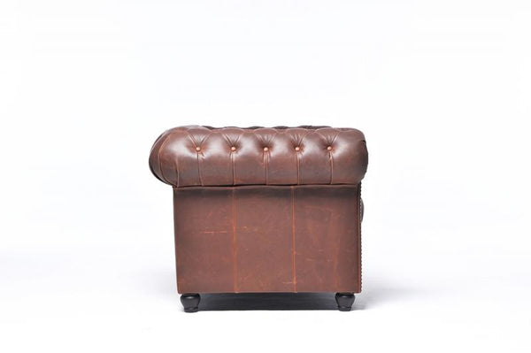Chesterfield Vintage 2-seat Sofa Brown