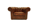 Chesterfield Armchair Class Cloudy Brown Light