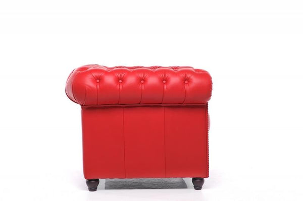 Chesterfield Original 3-Seat Sofa Red