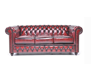 Chesterfield Original 3-Seat Sofa Wash Off Red