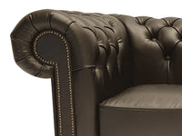 Chesterfield Armchair First Class Shiny Black