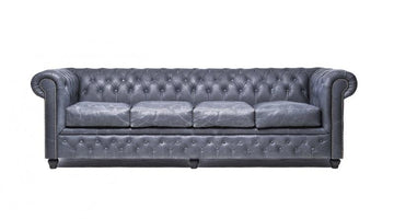Chesterfield Vintage 4-seat Sofa Black