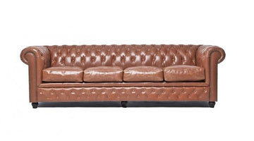 Chesterfield Vintage 4-seat Sofa Mocca