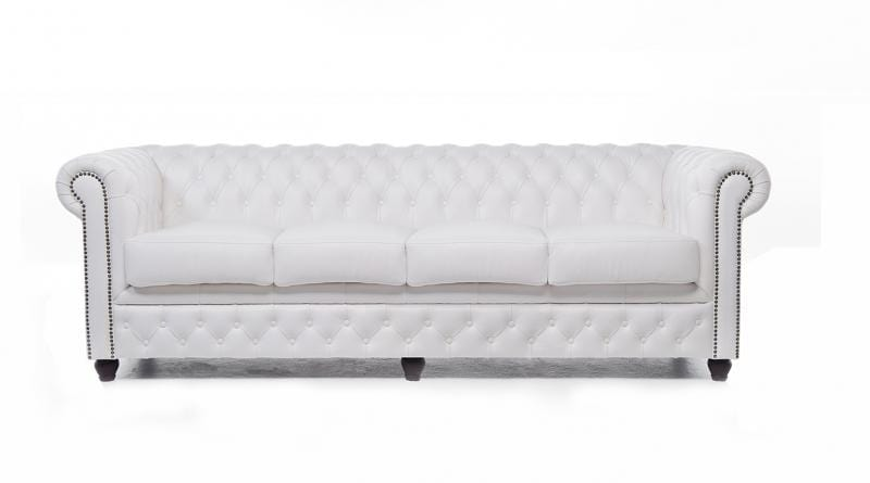 Chesterfield Original 4-seat Sofa White