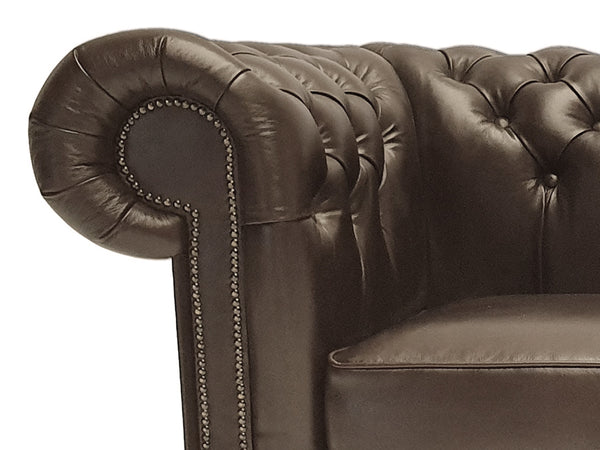 Chesterfield Armchair First Class Cloudy Dark Brown