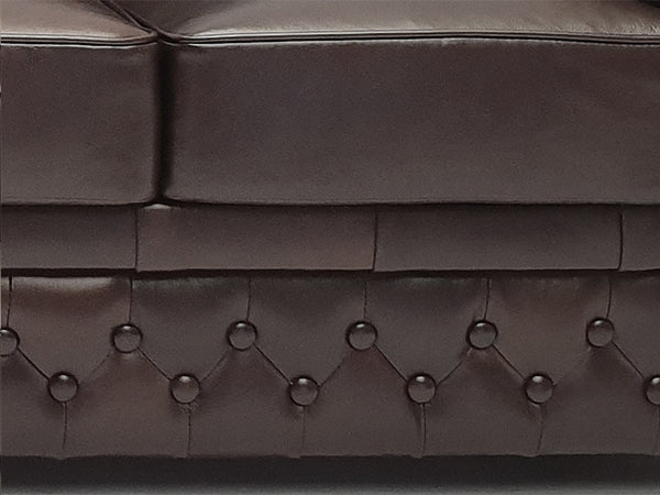 Chesterfield Sofa First Class 3-seater Shiny Black
