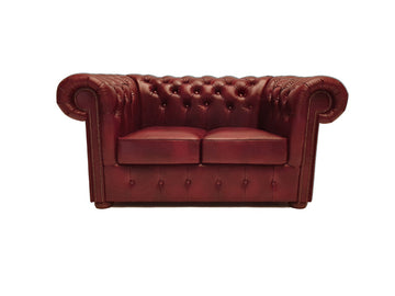 Chesterfield Sofa Class 2-seater Cloudy Red