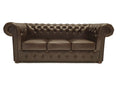 Chesterfield Sofa Class 3-seater Cloudy Dark Brown
