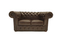 Chesterfield Sofa Class 2-seater Cloudy Brown Dark