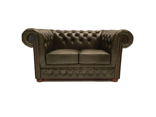 Chesterfield Sofa First Class 2-seater Cloudy Green