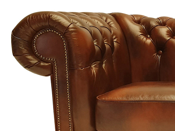 Chesterfield Sofa Class 2-seater Cloudy Brown Light