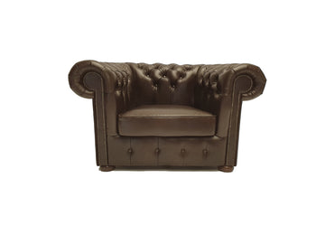 Chesterfield Armchair Class Cloudy Dark Brown