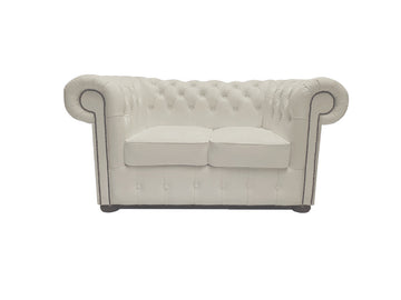 Chesterfield Sofa Class 2-seater White