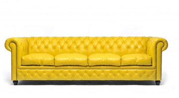 Chesterfield Original 4-seat Sofa Yellow