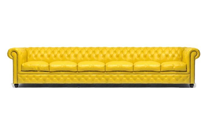 Cool Chesterfield Original 6 Seat Sofa Yellow Gmtry Best Dining Table And Chair Ideas Images Gmtryco