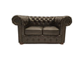 Chesterfield Sofa Class 2-seater Shiny Black