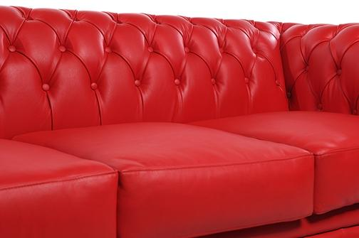 Chesterfield Original 5-seat Sofa Red