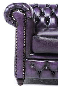 Chesterfield Original 6-seat Sofa Wash Off Purple