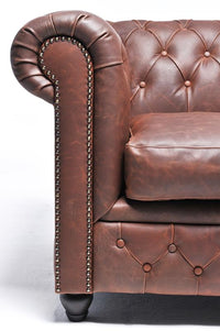 Chesterfield Vintage 5-seat Sofa Brown