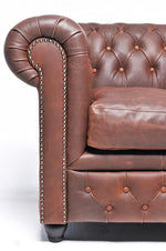 Chesterfield Vintage 4-seat Sofa Brown