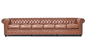 Chesterfield Vintage 6-seat Sofa Mocca