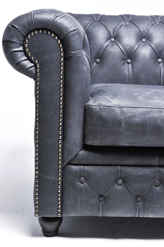 Chesterfield Vintage 5-seat Sofa Black