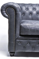 Chesterfield Vintage 6-seat Sofa Black