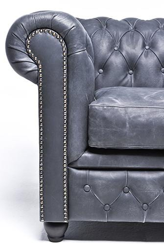 Chesterfield Vintage 2-seat Sofa Black