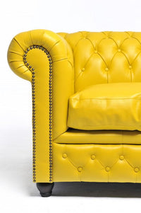 Chesterfield Original 3-Seat Sofa Yellow