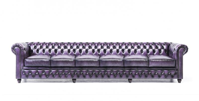 Pleasing Chesterfield Original 6 Seat Sofa Wash Off Purple Squirreltailoven Fun Painted Chair Ideas Images Squirreltailovenorg