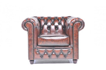 Chesterfield Original Armchair Wash Off Brown