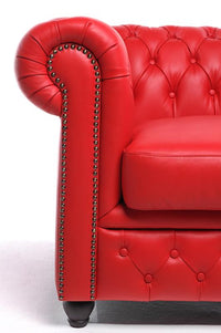 Chesterfield Original 4-seat Sofa Red