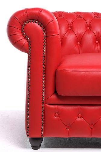 Chesterfield Original Armchair Red